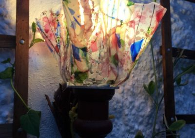 fused glass lampshade