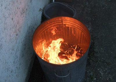 raku smoke fire
